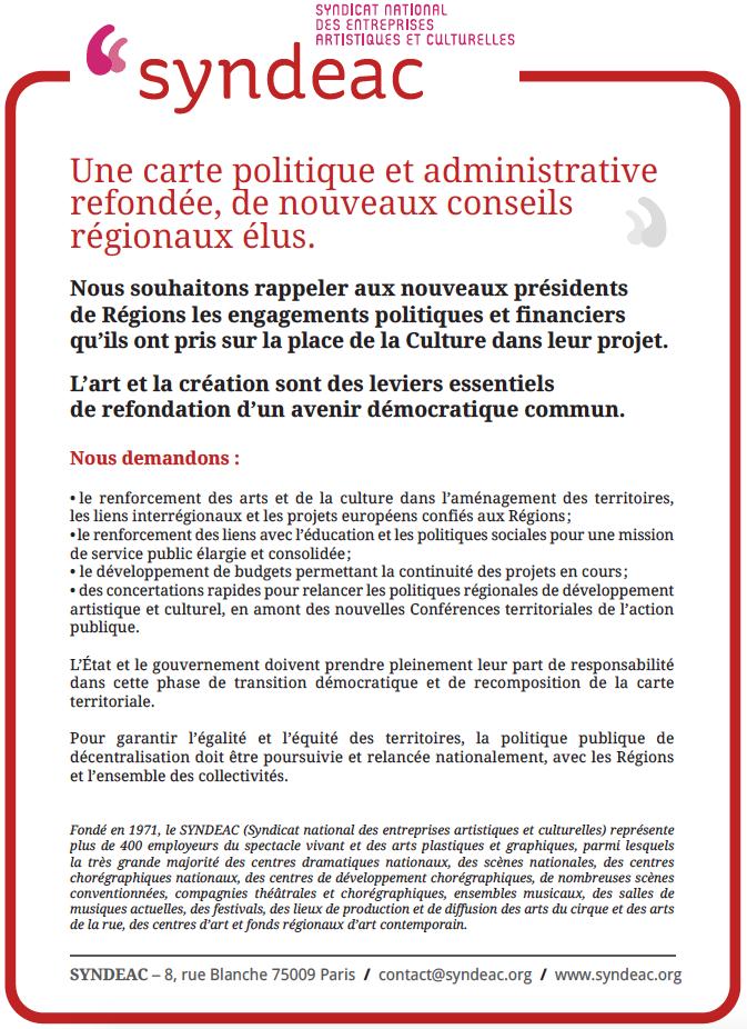 Une carte politique et administrative refondée, de nouveaux conseils régionaux élus - Encart paru au BIS de Nantes  2016